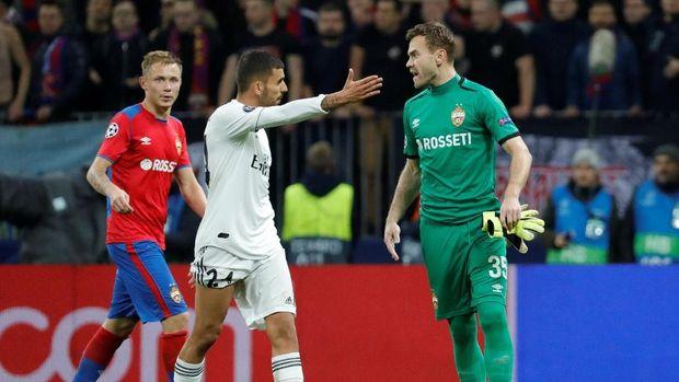 Real Madrid dikalahkan CSKA Moskow 0-1 di Liga Champions.