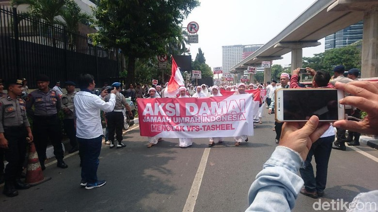 Foto: Suasana demo (Masaul/detikTravel)
