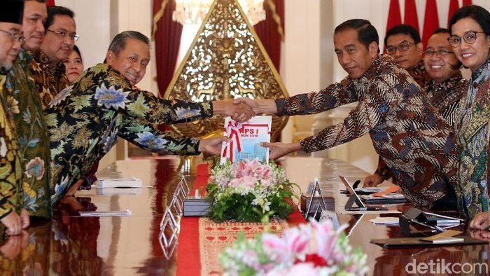 BPK bertemu Presiden Jokowi Foto: Rengga Sancaya