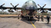 TNI Akan Kerahkan Pesawat Hercules untuk Water Bombing Karhutla di Riau