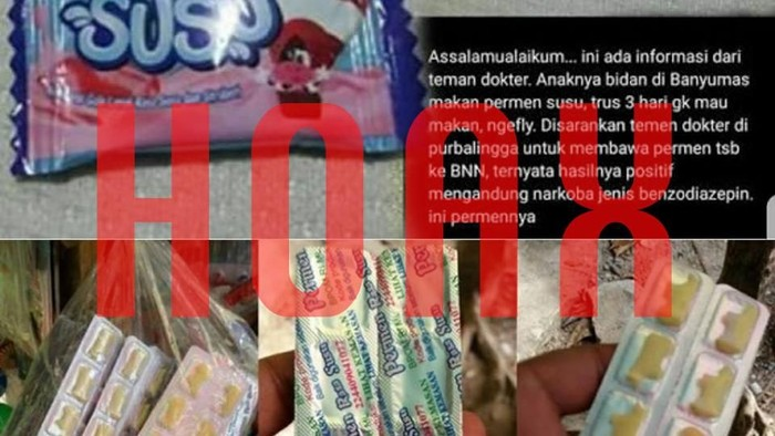 Banyak informasi seputar jajanan mengandung narkoba yang ternyata hoax (Foto: viral)