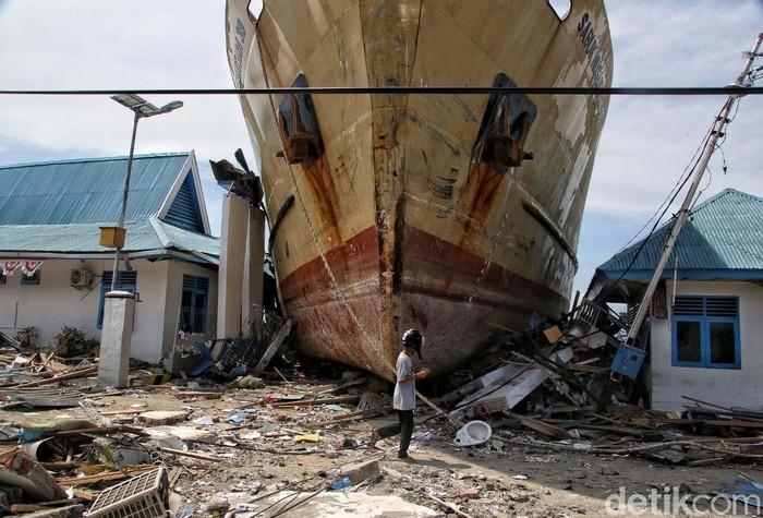 Gempa dan tsunami di Palu. Foto: Pradita Utama/detikcom