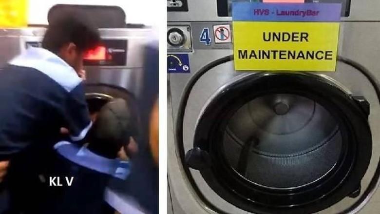 Masukkan Keponakan ke Mesin Cuci, Pria Malaysia Ditangkap