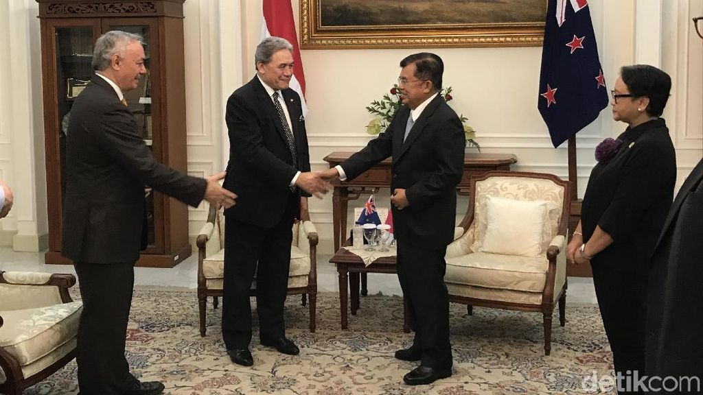 Wakil PM Selandia Baru Temui JK