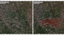 Citra Satelit Amblesan Tanah akibat Gempa di Palu dan Sigi