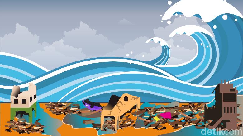 Ilustrasi tsunami