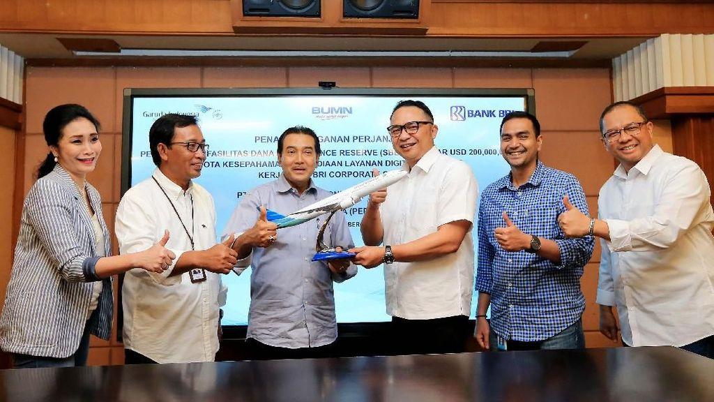 Bank BRI Gandeng Garuda Indonesia Perkuat Rupiah
