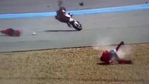 Lorenzo Kecelakaan Hebat di Buriram, Motornya Terbelah