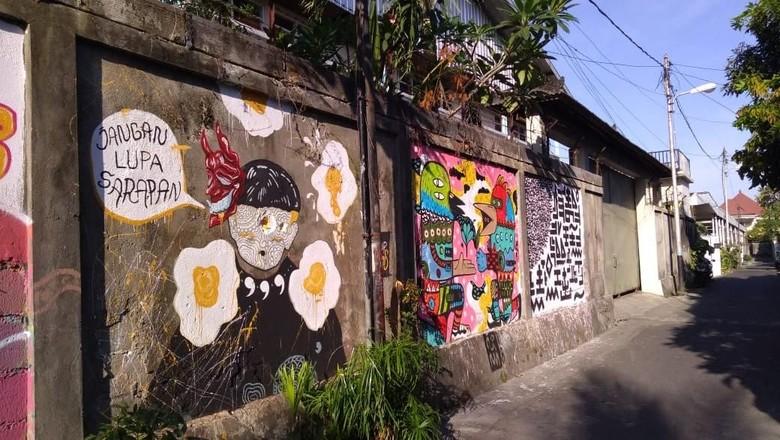 Mural di Denpasar (Dok. Kadus Sesetan Denpasar)