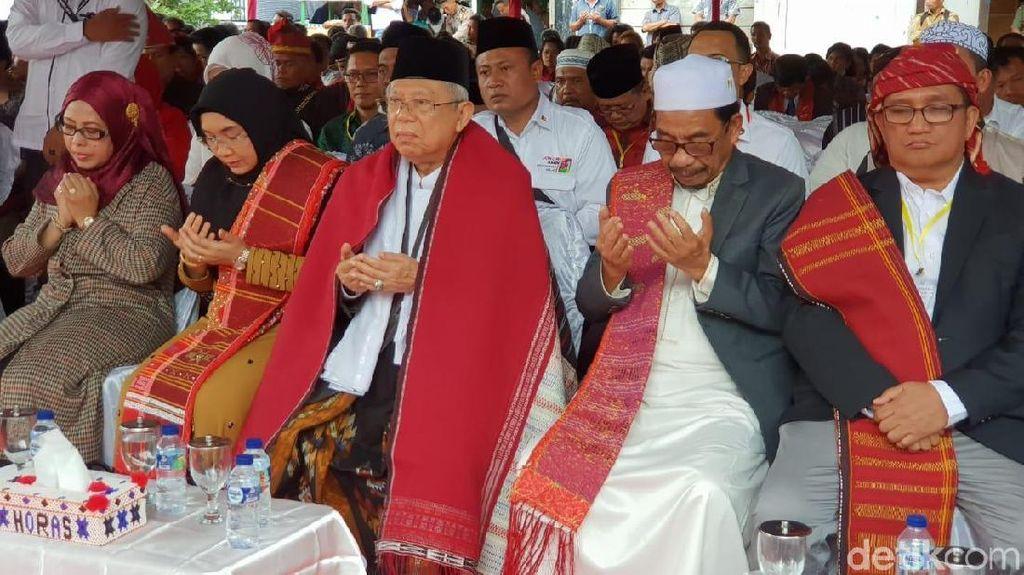 Maruf Amin Optimistis Bisa Menang Pilpres di Sumut