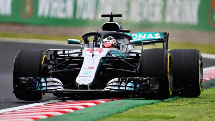 Lewis Hamilton tercepat di Free Practice I GP Jepang. (Foto: Clive Mason/Getty Images)