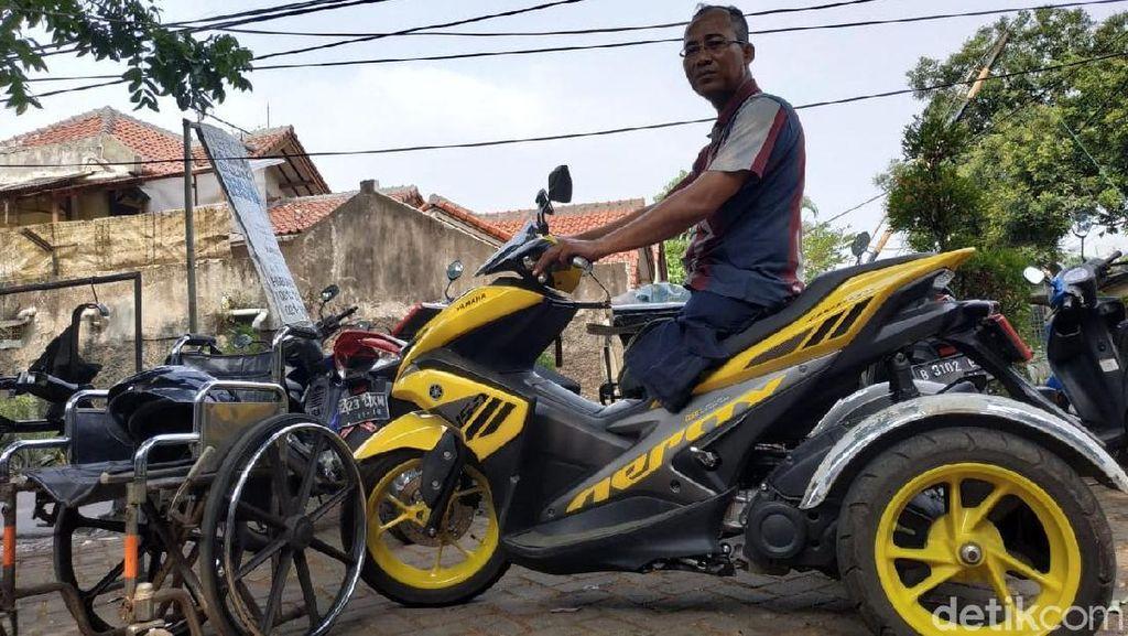 Tak Cuma untuk Difabel, Motor Roda Tiga Jadi Pilihan Emak-emak