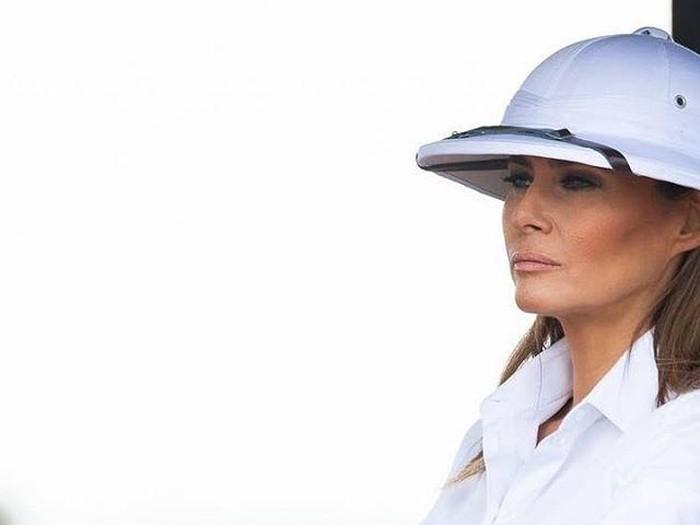 Melania Trump jadi kontroversi karena pakai foto koloni. Foto: Instagram/@melaniatrumpworld