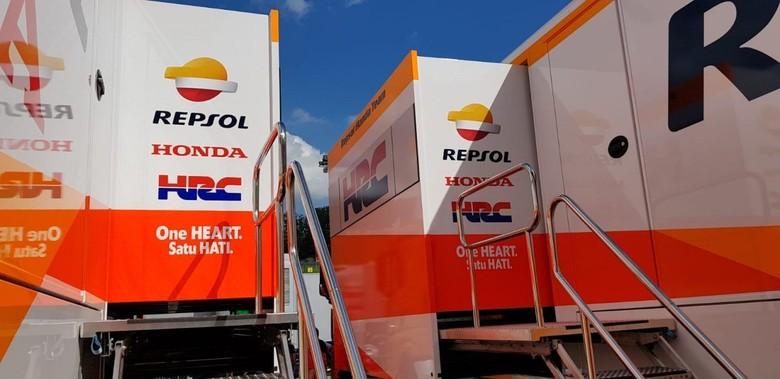 Logistik MotoGP. Foto: Box Repsol