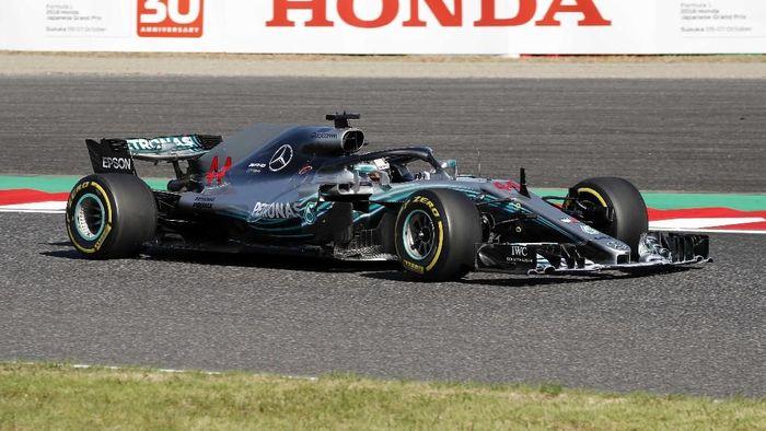 Lewis Hamilton memenangi balapan F1 GP Jepang 2018 (Issei Kato/REUTERS)