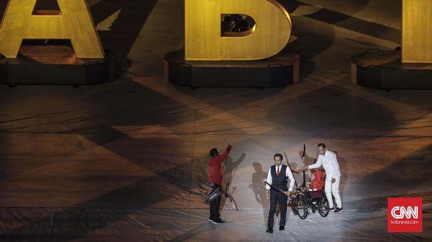 Bahasa Isyarat Jokowi Buka Asian Para Games 2018