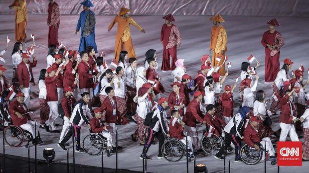 Acara pembukaan Asian Para Games 2018 berlangsung meriah. (