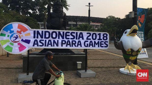 Kompleks GBK terlihat sepi pada dua hari penyelenggaraan Asian Para Games 2018.
