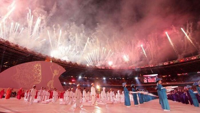 Suasana opening ceremony Asian Para Games 2018 ( Arief Bagus/AFP Photo)