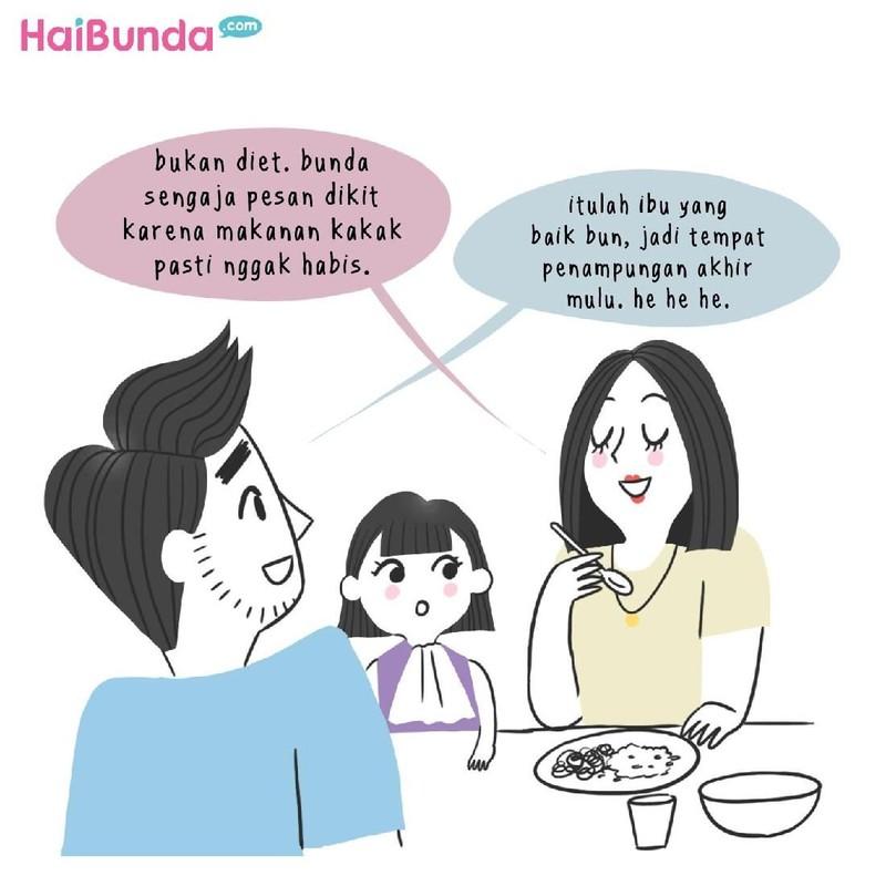 Hal ini biasa dilakukan Bunda saat makan di luar. Bunda juga melakukan hal serupa? Atau ada hal lain yang biasa dilakukan saat makan di luar?