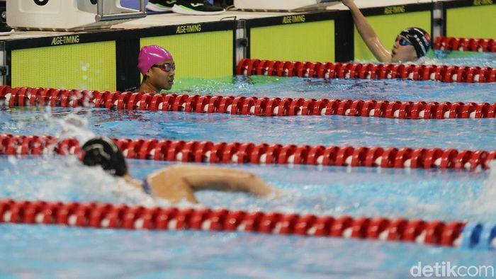 Syuci Indriani raih perunggu 200 meter gaya bebas putri S14.(Agung Pambudhy/detikSport)