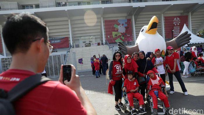 Asian Para Games 2018. (Foto: Agung Pambudhy/Detikcom)