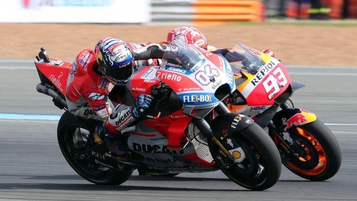 Andrea Doviozoso diprediksi masih kesulitan mengalahkan Marc Marquez di MotoGP 2019. (Foto: Soe Zeya Tun/REUTERS)