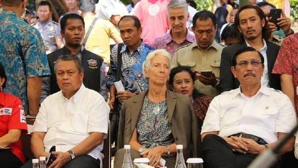 Bos BI dan IMF Kunjungi Korban Gempa Lombok