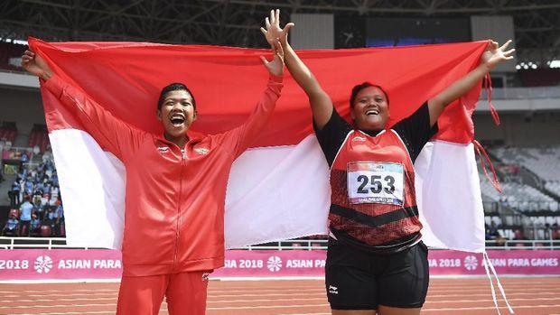 Suparniyati meraih emas untuk Indonesia di nomor tolak peluru