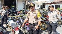 Diduga untuk Balap Liar, 116 Sepeda Motor Disita Polisi di Kediri
