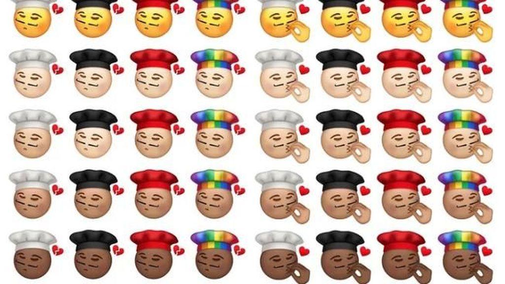 Seru! Desainer Ini Bikin Emoji Cium Ala Chef