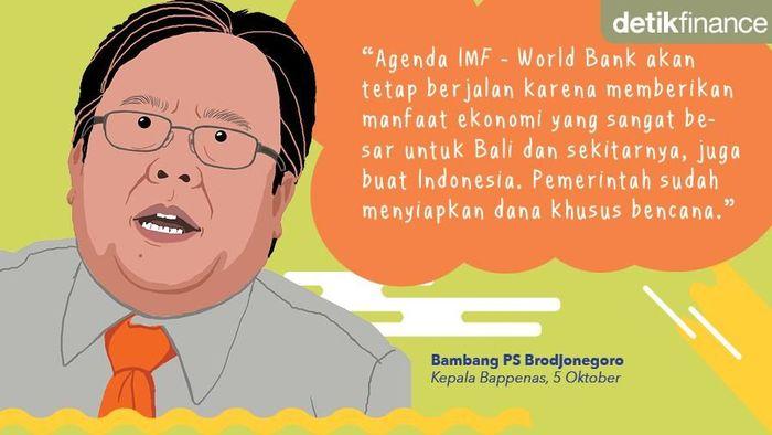 Kepala Bappenas Bambang Brodjonegoro. Foto: Tim Infografis.