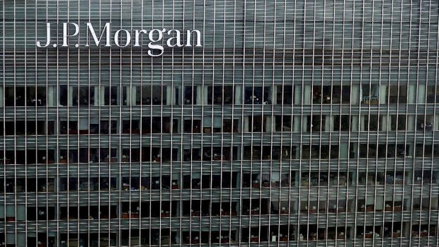 FILE PHOTO: A J.P. Morgan building is seen at Canary Wharf in London, Britain May 17, 2017. REUTERS/Stefan Wermuth/File Photo                                GLOBAL BUSINESS WEEK AHEAD