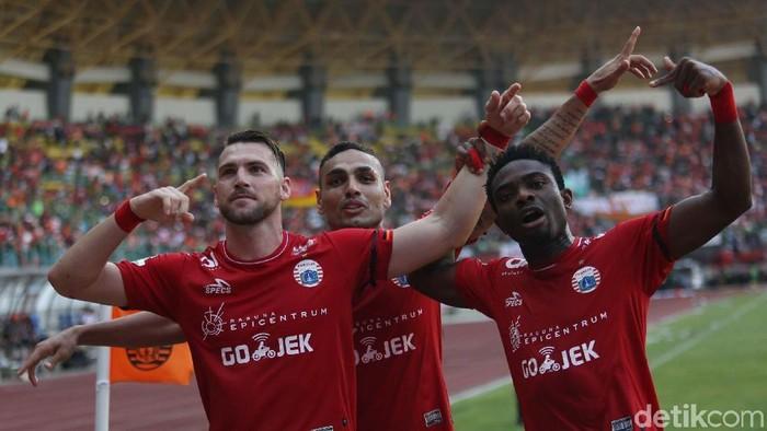 Persija Jakarta sukses petik tiga poin penting ketika bertanding melawan Madura United dalam lanjutan Liga 1 2018. Foto: Agung Pambudhy