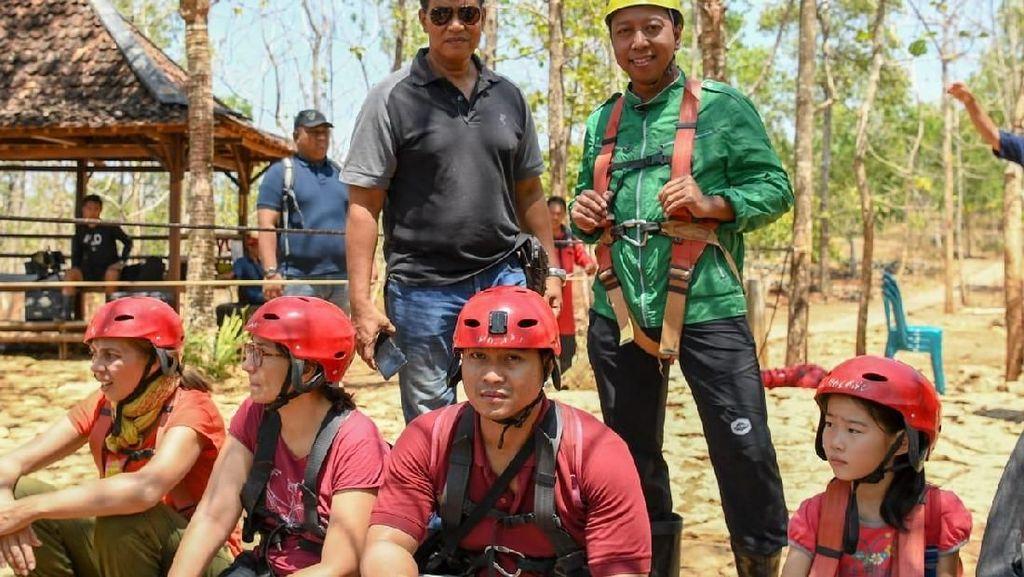 Rommy Bertualang di Gua Jomblang, Harap Wisata Alam Tetap Lestari