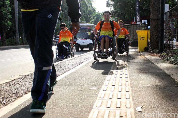 Jalur khusus tersebut untuk memberikan kenyamanan kepada para suporter Asian Para Games 2018.