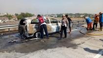 Mobil Terbakar di Tol Gempol- Pandaan, Dua WN Jepang Selamat