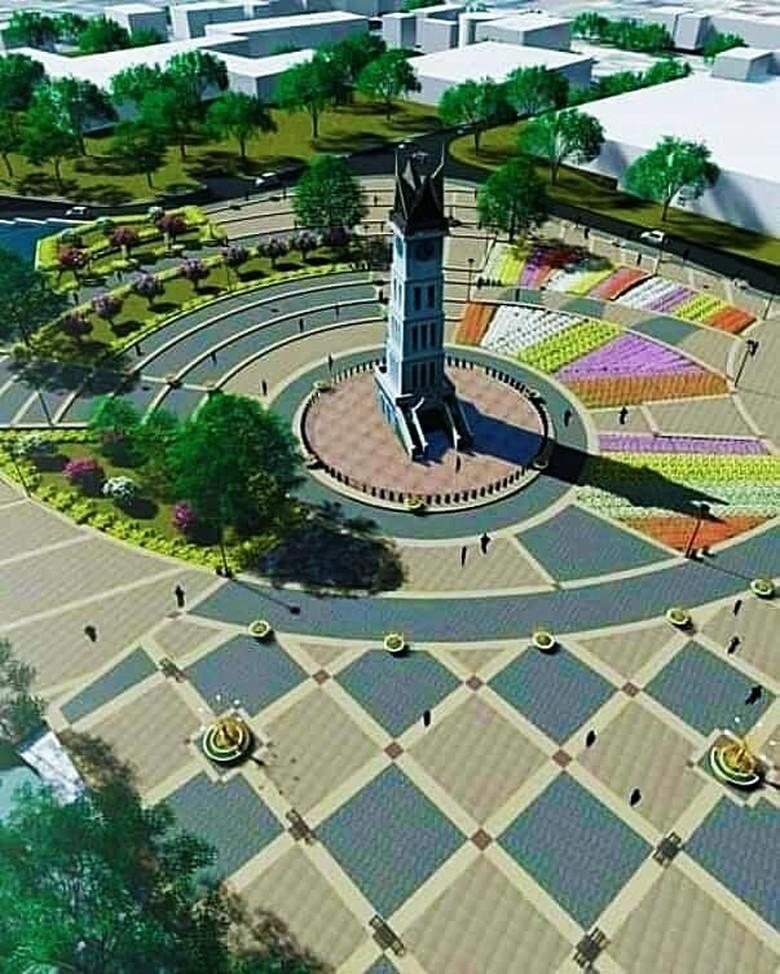 191+ Ide Desain Taman Jam Gadang Paling Bagus