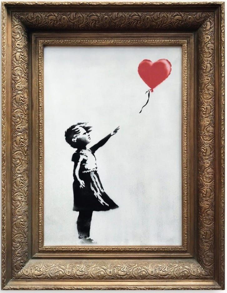 Lukisan Banksy di Balai Lelang Sotheby's London