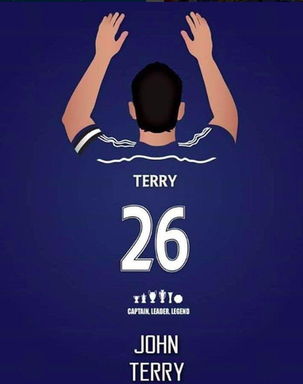 Salah satu karikatur yang dibuat netizen di medsos berupa kostum belakang Terry yang dihiasi berbagai piala yang pernah diraihnya. Foto: istimewa