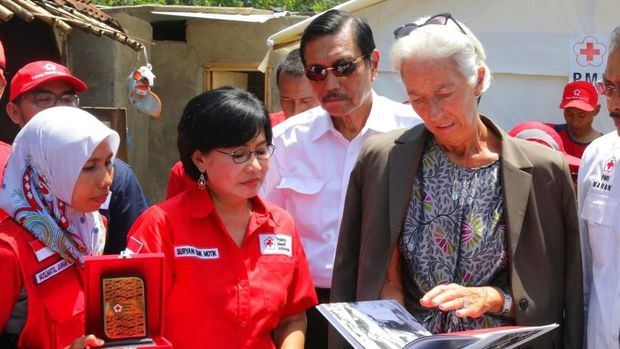 Menko Luhut dan Bos IMF Christine Lagarde di Lombok