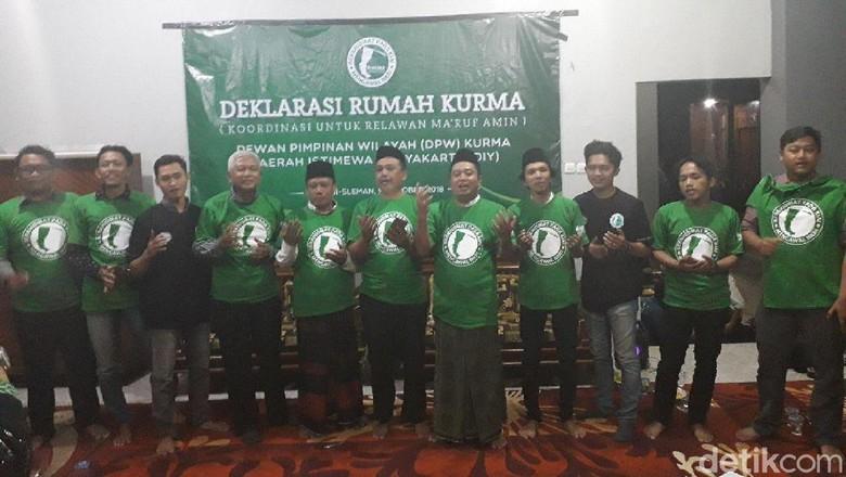 Relawan Maruf Amin Deklarasikan Rumah Kurma di Yogya