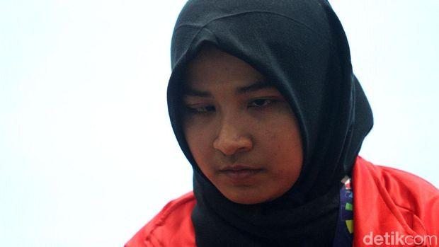 Atlet Asian Para Games cabor Judo Miftahul Jannah rela didiskualifikasi lantaran tak mau melepas hijabnya. Selasa (9/10/2018).