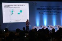 Rudiantara ketika menjadi pembicara kunci dalam Indonesia Eximbank Panel Discussion, The Perfect Time To Enhance Emerging Economies Cooperations On Trade, di Sofitel Hotel, Nusa Dua, Bali, Selasa (09/10/2018).