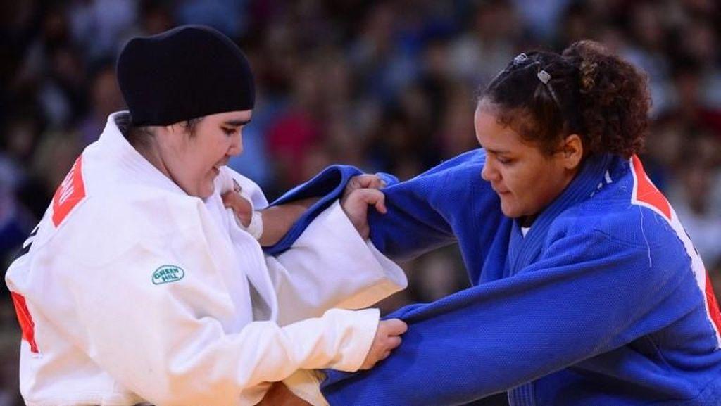 Hijab Dilarang, Pejudo Arab Pakai Ini Supaya Bisa Tampil di Olimpiade
