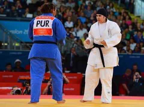 Hijab Dilarang, Pejudo Arab Pakai Ini Supaya Tetap Bisa Tampil di Olimpiade