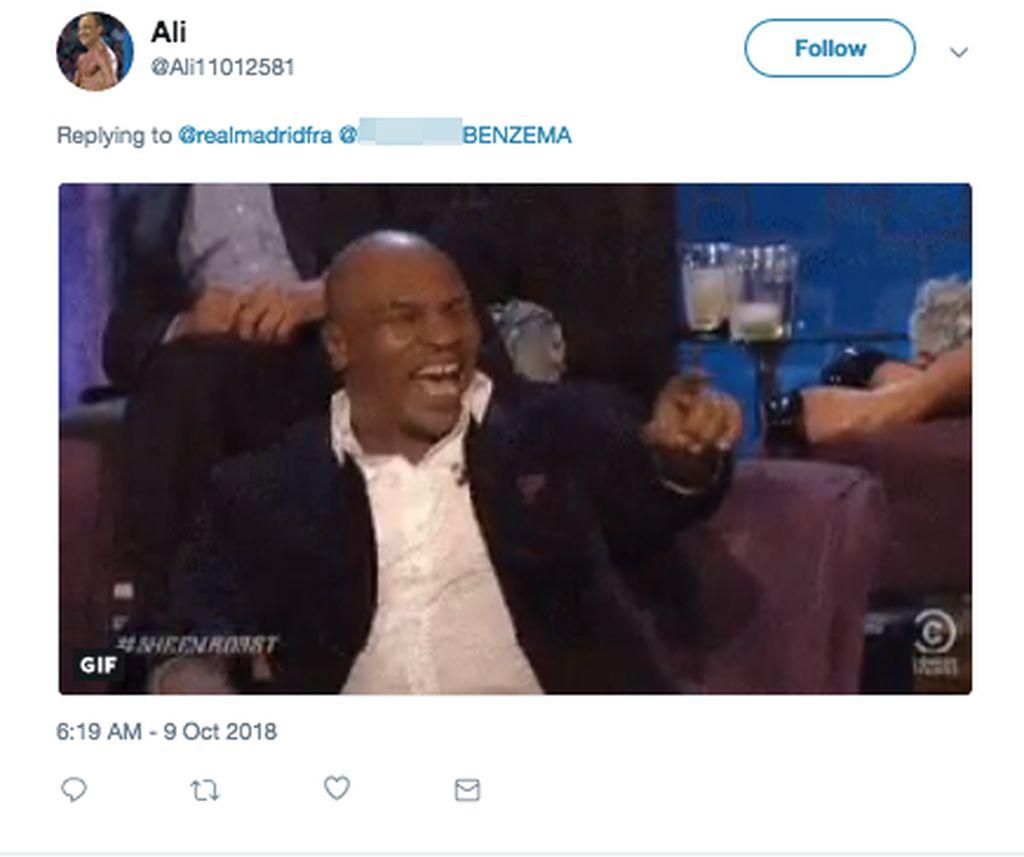 Video ini ceritanya menggambarkan reaksi Mike Tyson mendapati nama Benzema di nominasi Ballon dOr. (Foto: Internet/Twitter)