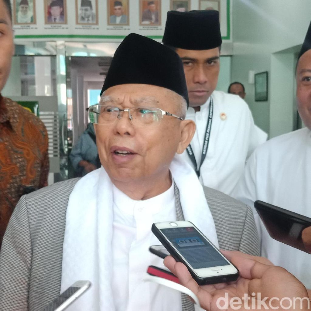 PKS Bicara Ekonomi Sulit, Maruf Amin: Saya Ekonomi Optimistik