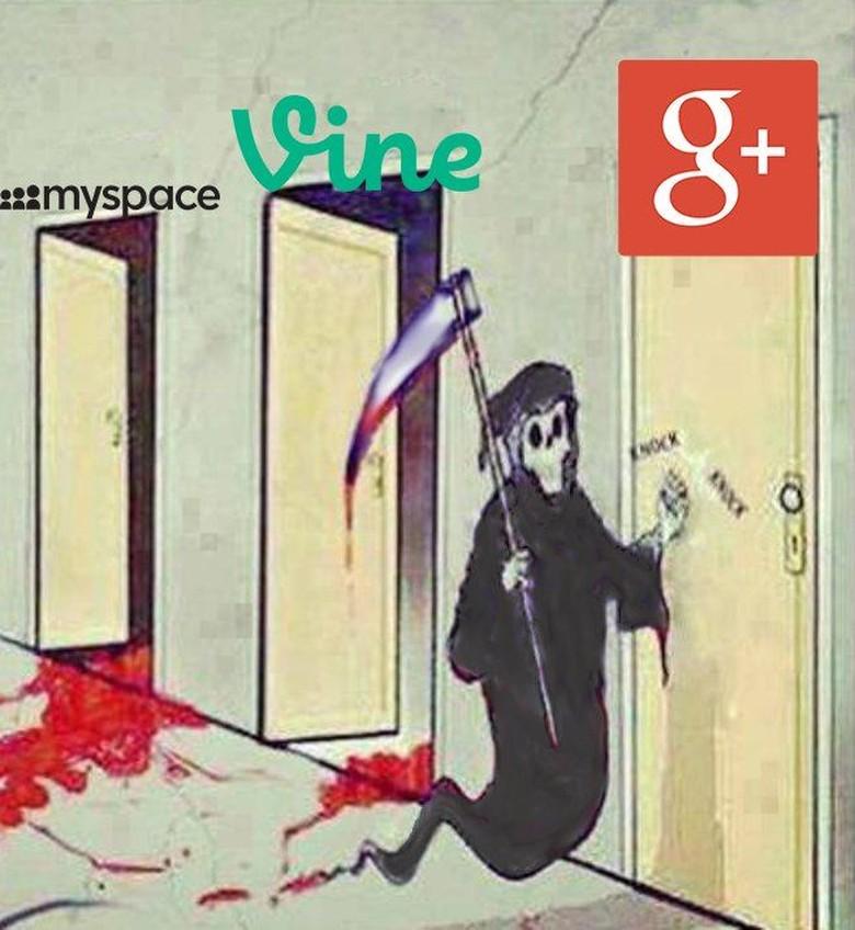 Google+ mengikuti jejak media sosial lain seperti Vine dan mySpace yang harus tutup usia lebih cepat. Foto: Istimewa