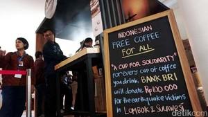 Donasi Kopi untuk Lombok dan Palu di IMF-WB Capai Rp 1,3 M